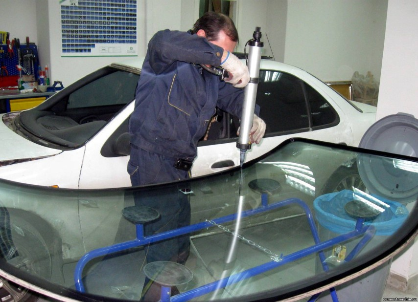 Замена лобового стекла своими руками ваз